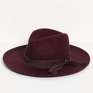 Free People Kanan Burgundy Felt Hat
